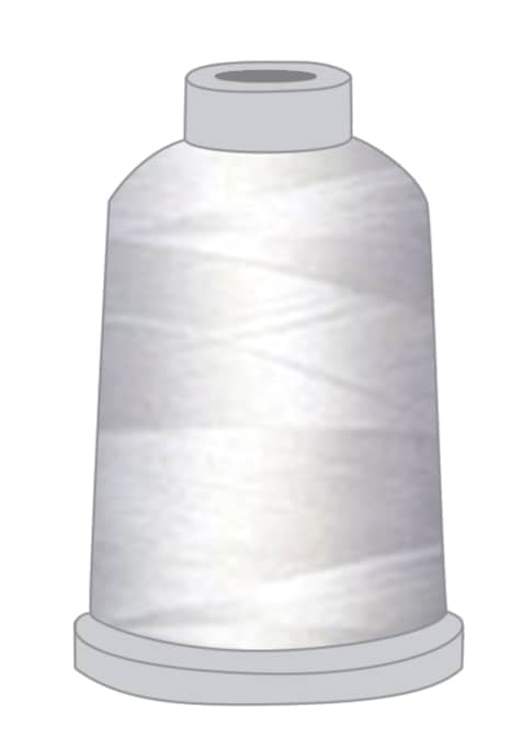 Stickgarn weiß