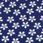 Blumen dunkelblau-weiß