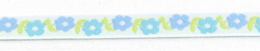 Borte Blumen schmal blau