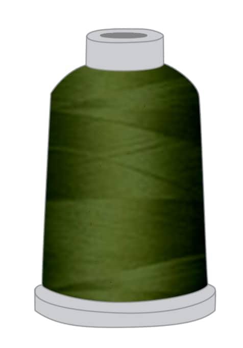 Stickgarn oliv