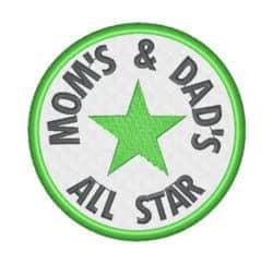 All Star Stern im Kreis
