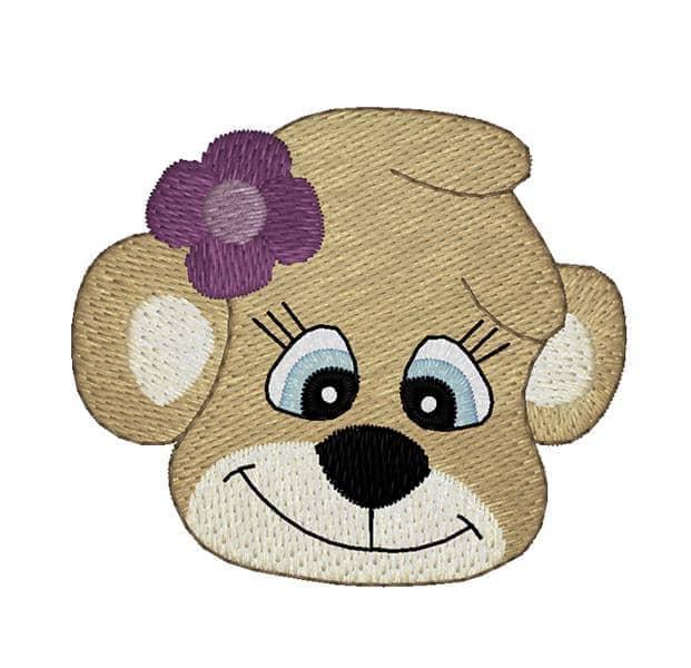 Bärenkopf mit Blume