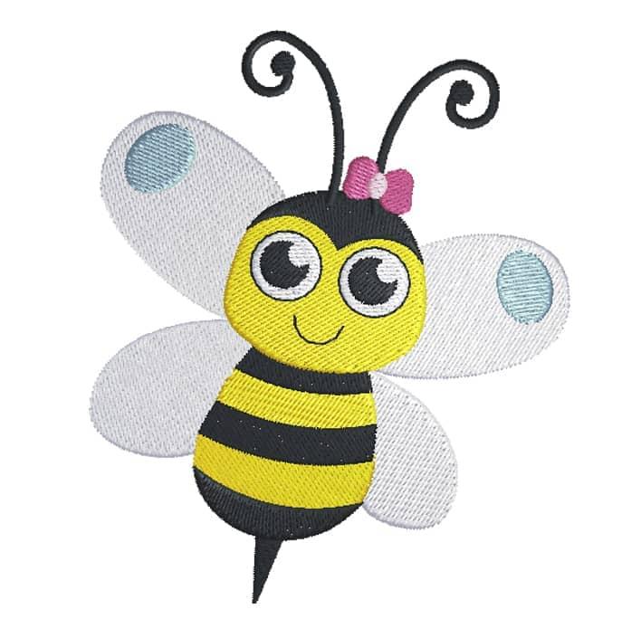 Biene mit Blümchen