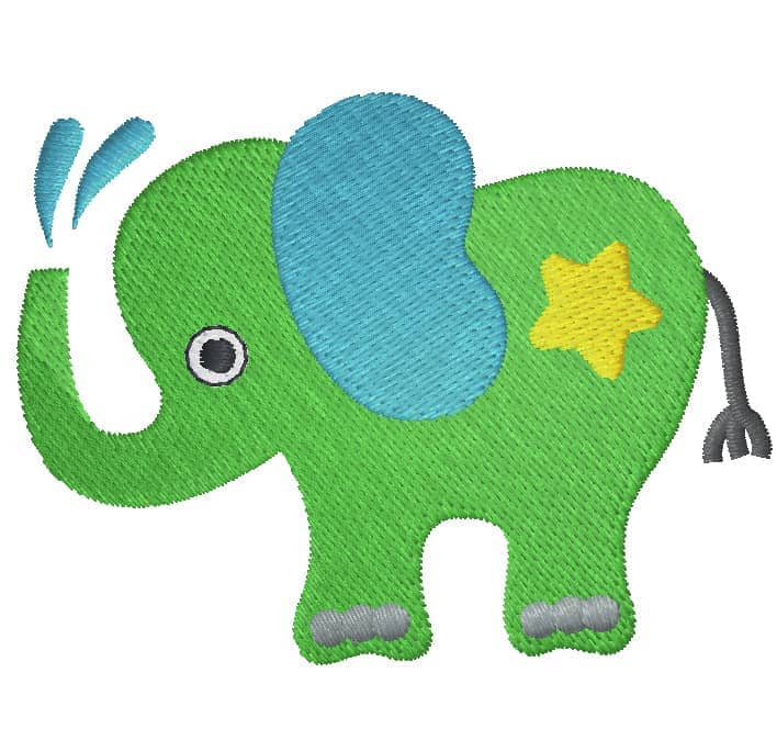 Elefant mit Stern