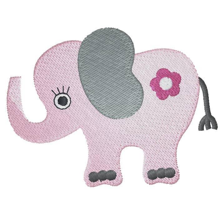 Elefant mit Blume