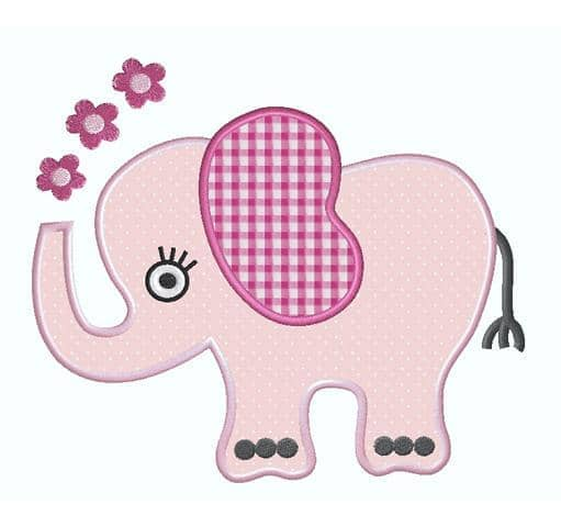 Elefantengirl mit Blumen