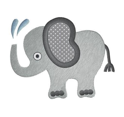 Elefant mit Wasserspritzer TA