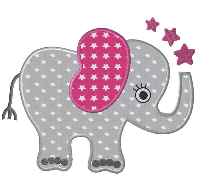 Elefantengirl mit Sternen