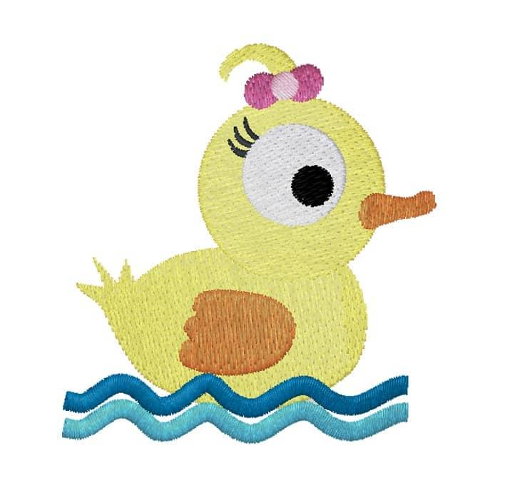 Entengirl im Wasser