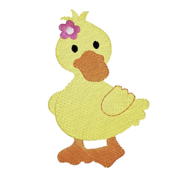 Ente mit Blume