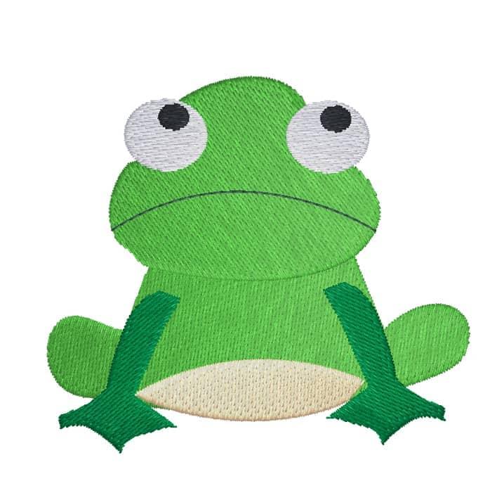 Frosch grimmig