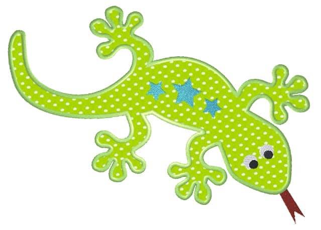 Gecko mit Sternen