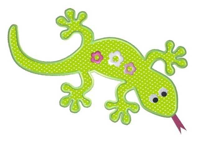 Gecko mit Blumen