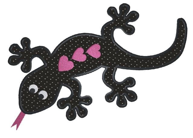 Gecko mit Herz