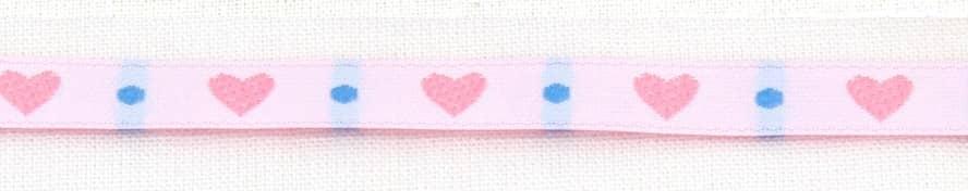 Band Herz schmal rosa blau