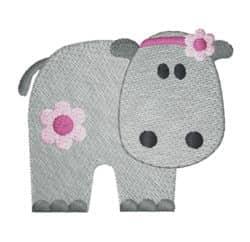 Hippo mit Blume