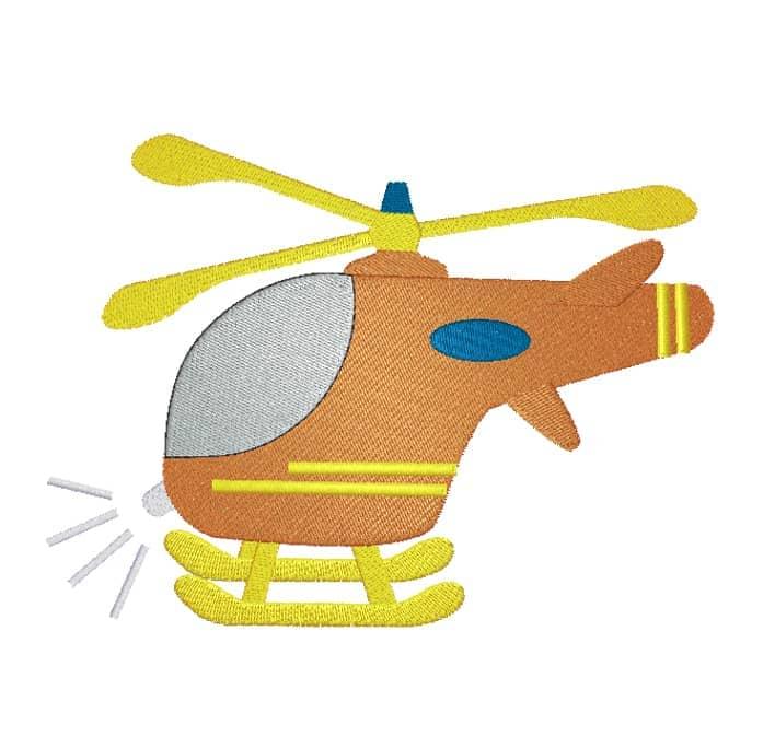 Hubschrauber orange