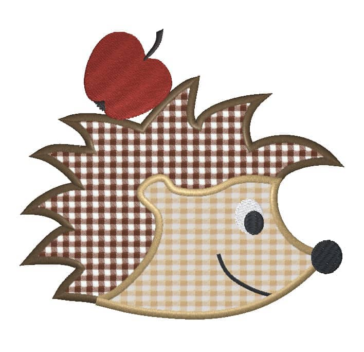 Igel mit Apfel