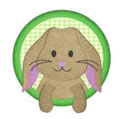 Kaninchen Girl im Kreis