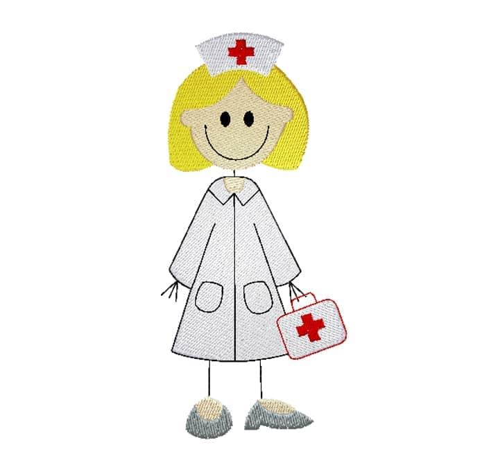 Krankenschwester blonde Haare