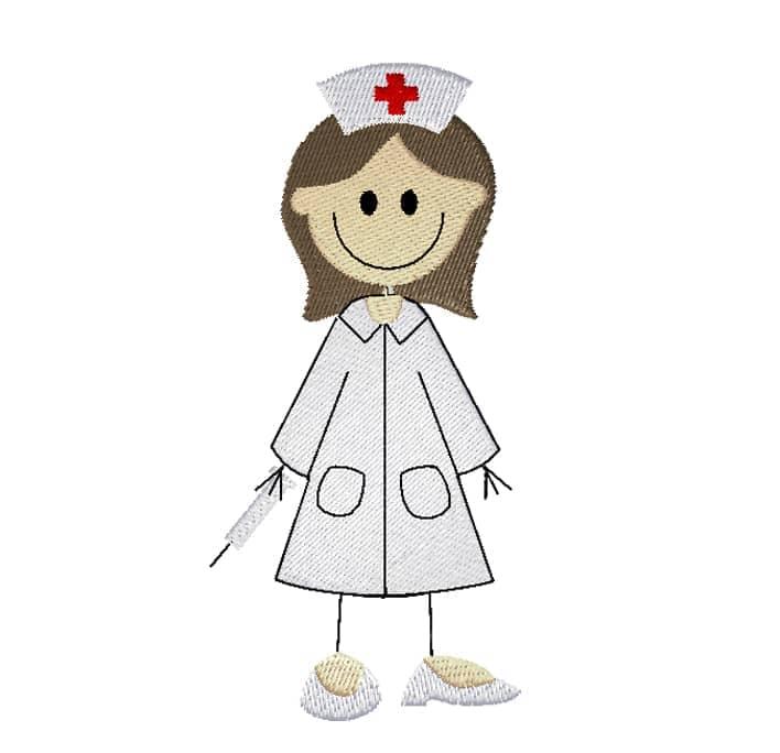 Krankenschwester dunkle Haare