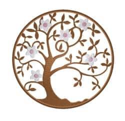 Lebensbaum mit Kirschblüten