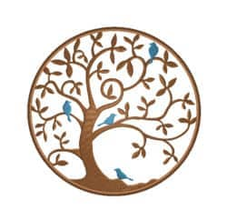 Lebensbaum mit Vögel