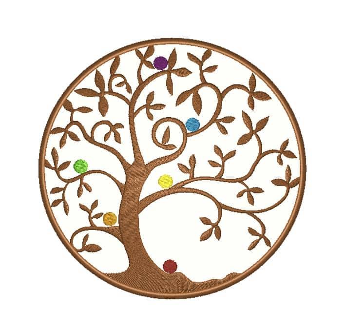 Lebensbaum mit Chakren