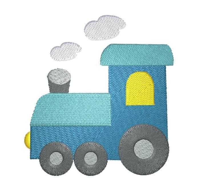 Lokomotive blau