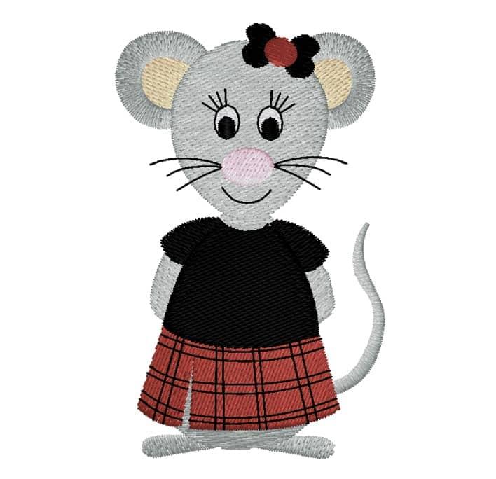 Maus im Schottenrock