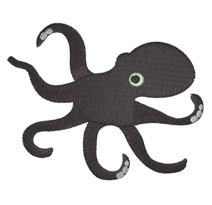 Oktopus schwarz