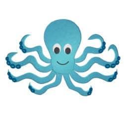 Oktopus blau