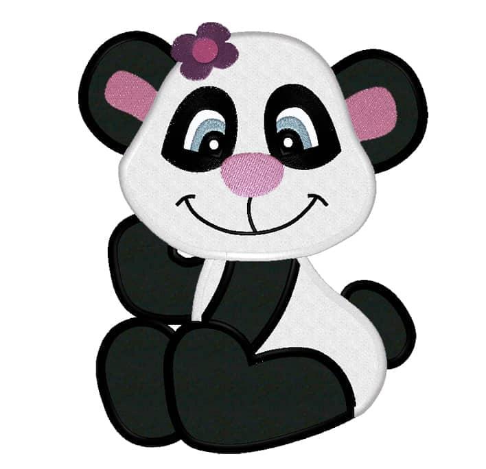 Pandagirl mit Blume