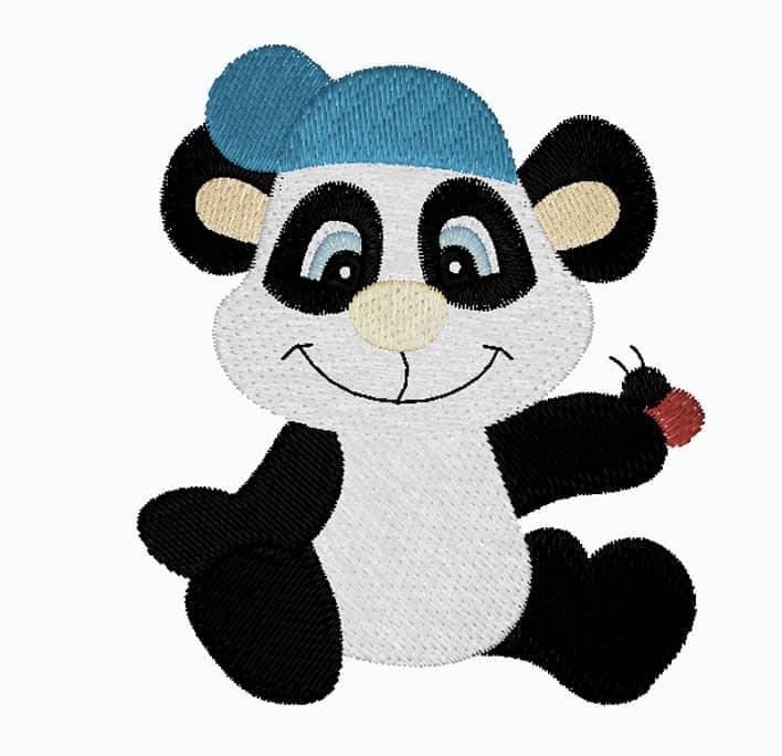 Pandabär mit Cap