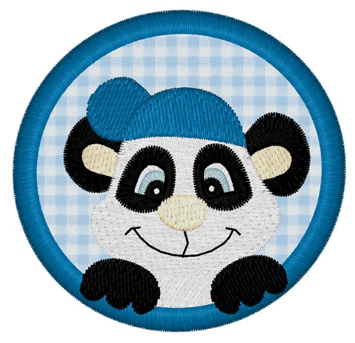 Pandaboy mit Kap im Kreis