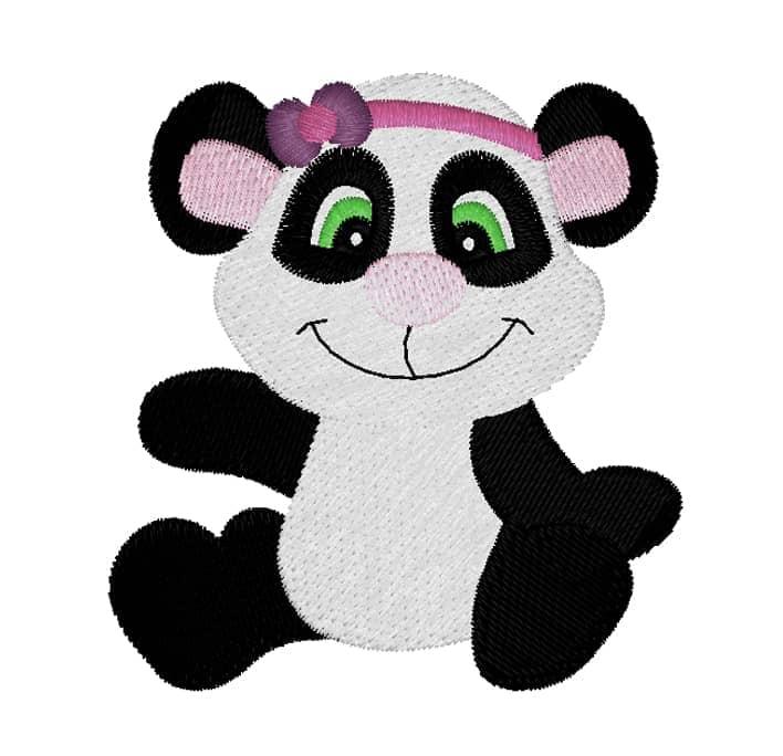 Pandabär mit Stirnband