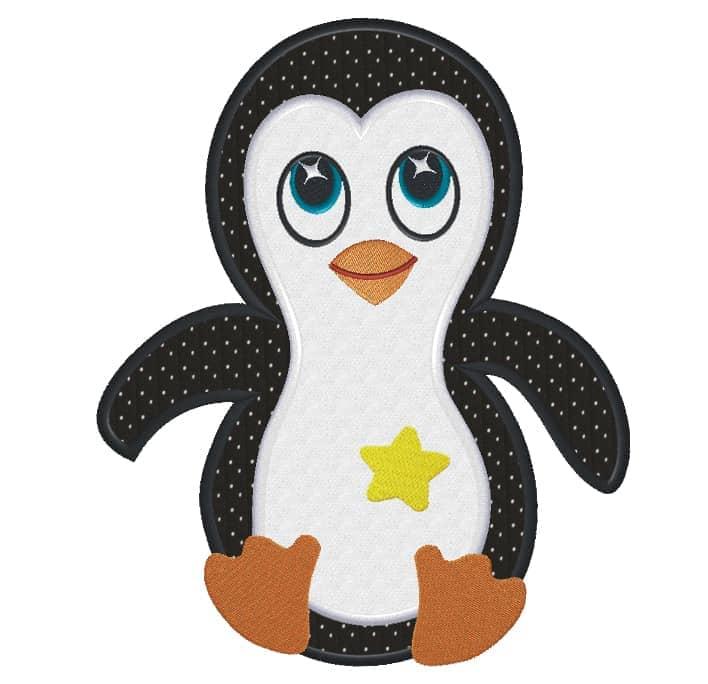 Pinguin mit Stern