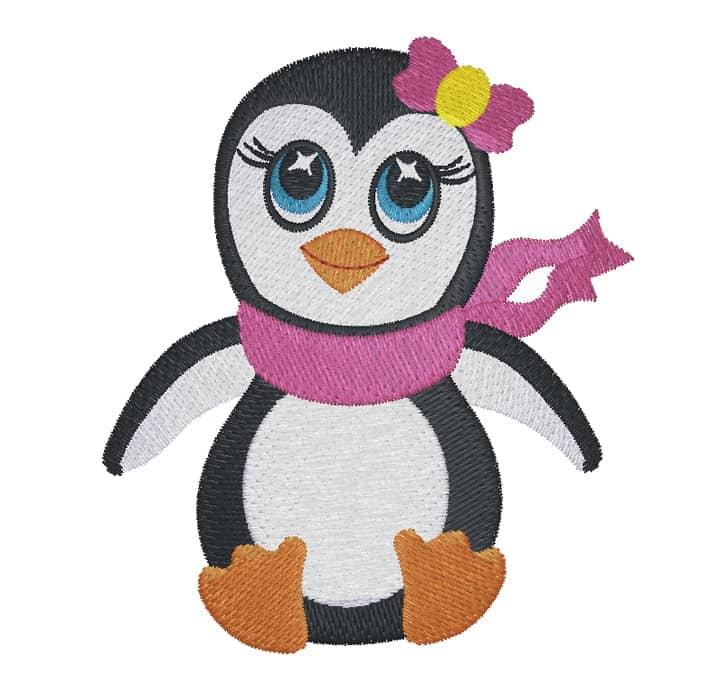 Pinguin mit Masche