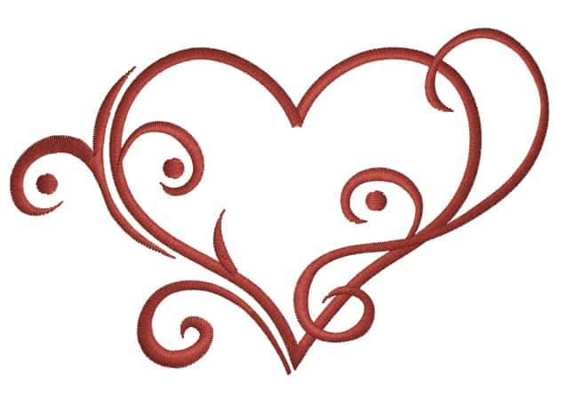 Herz mit Swirls