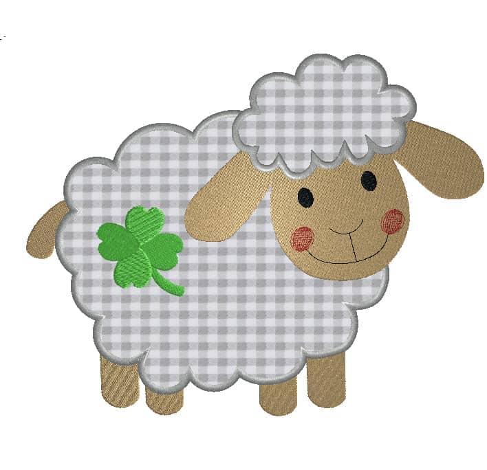 Schaf seitlich mit Klee