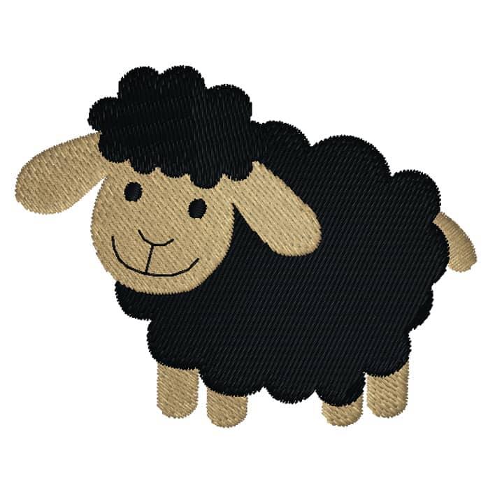 Schaf seitlich schwarz