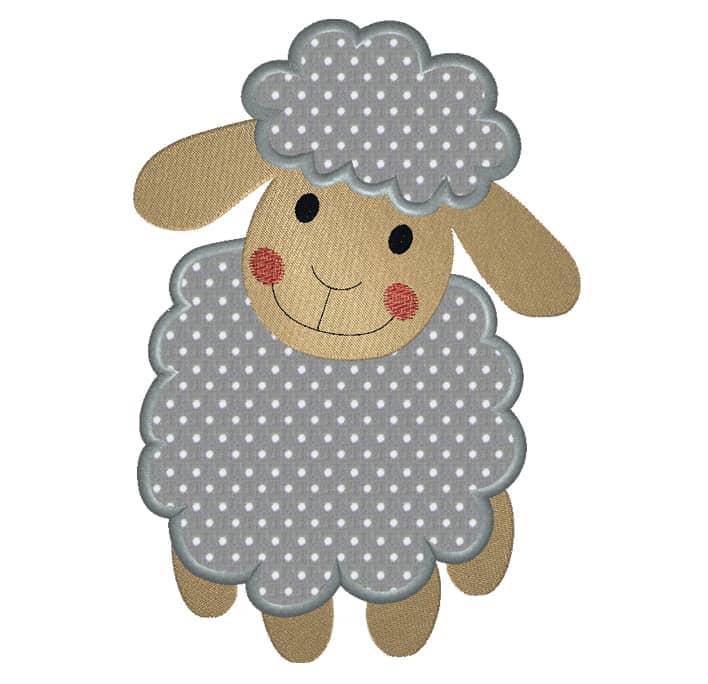 Schaf stehend grau