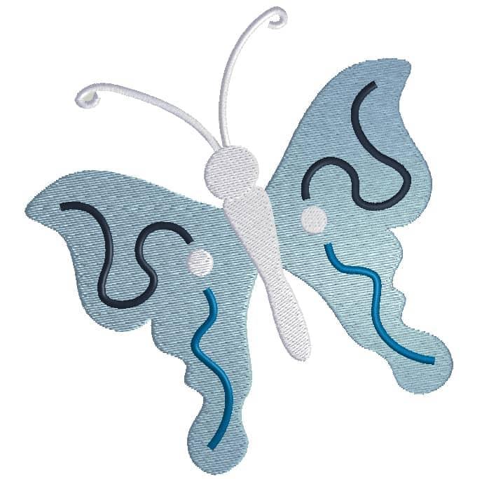 Schmetterling Schnörkel