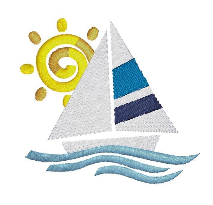 Segelschiff Sonne