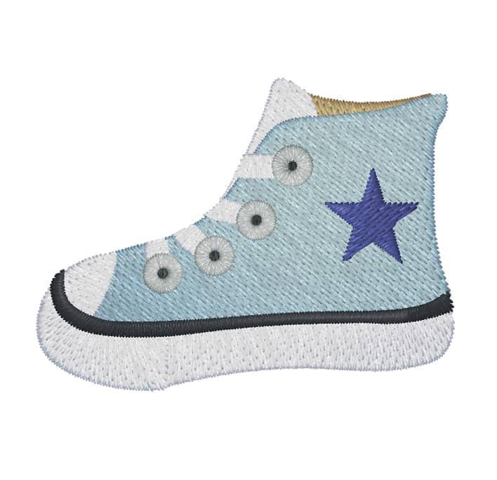 Turnschuh blau mit Stern