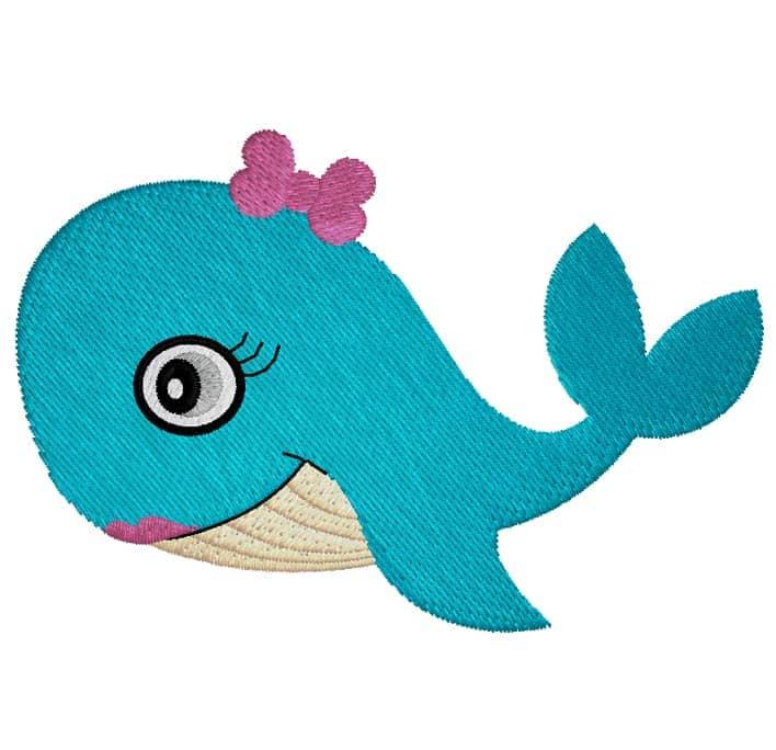 Blauwalgirl mit Masche