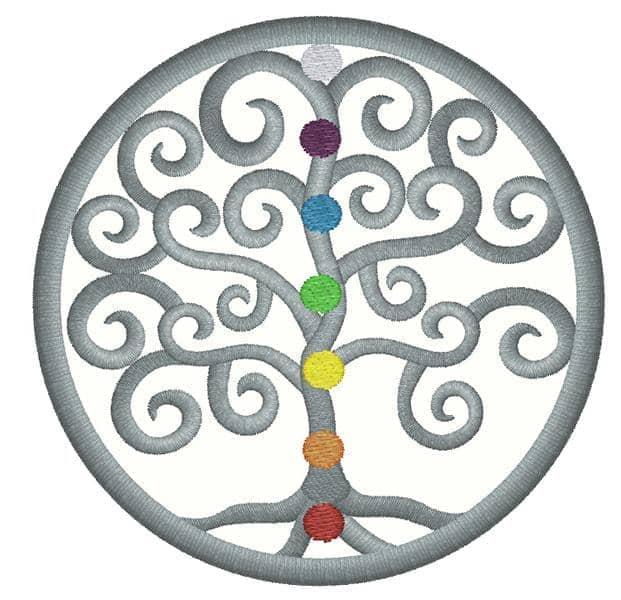 Lebensbaum Spiral bunt