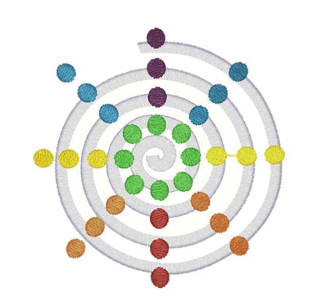 Spiralle bunt