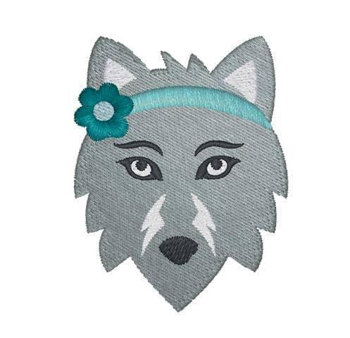 Wölfin Kopf
