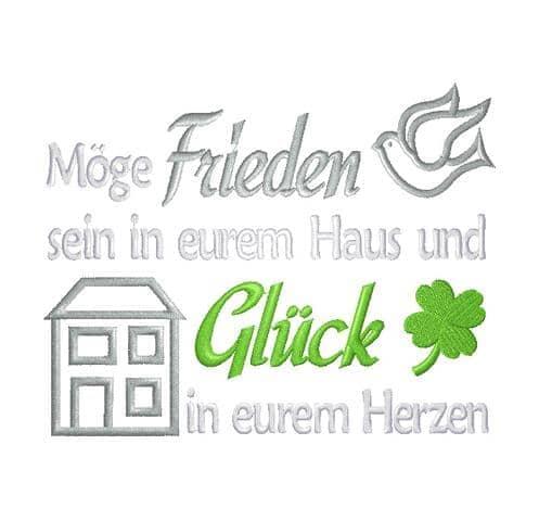 Irischer Friedensspruch für Haus